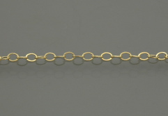 gold filled Hammerd Cable Chain