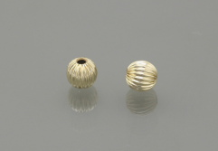 Gold Filled Round currugated Bead