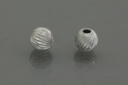 Sterling Silver Round Twist Beads