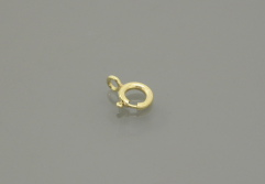 gold filled Spring Ring w/ Open Ring