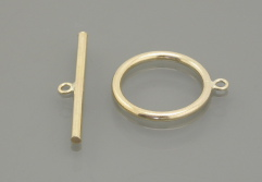 gold filled Plain Round Toggle Clasp